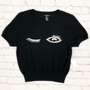 Forever 21 Sweaters - NWT Forever 21 Winking Eye Soft Black Sweater